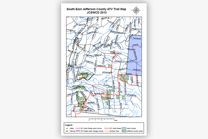 South East Jefferson County ATV Trail Map