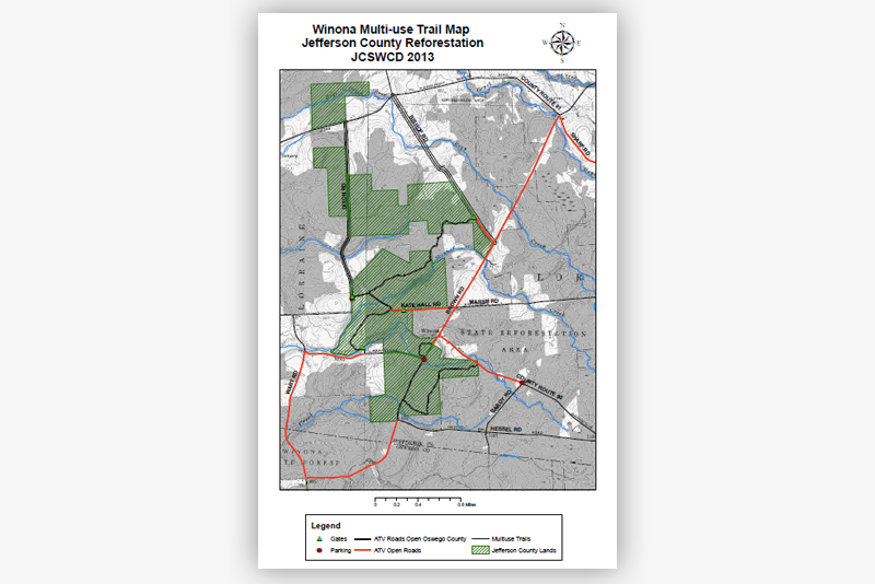 Winona Multi-use Trail Map