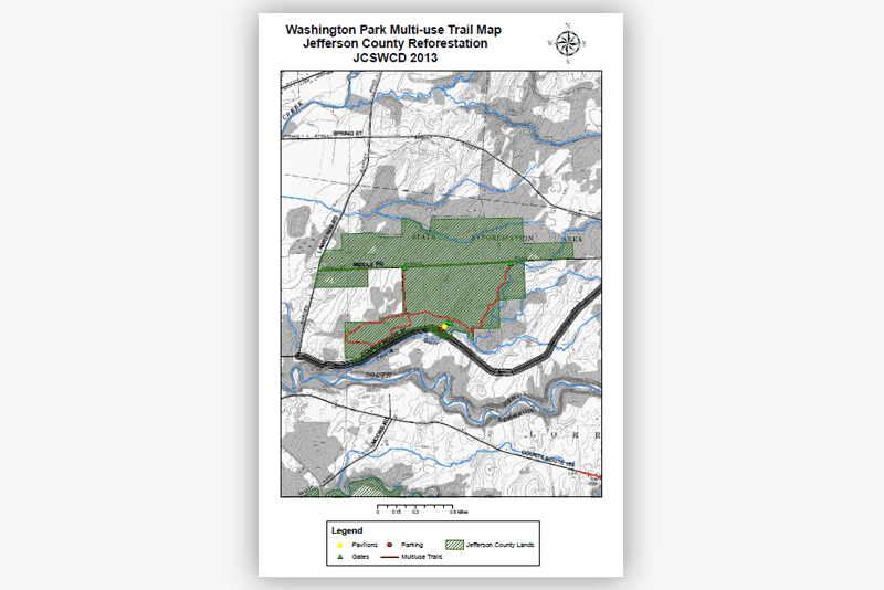 Washington Day Use Area and Multi-use Trail Map