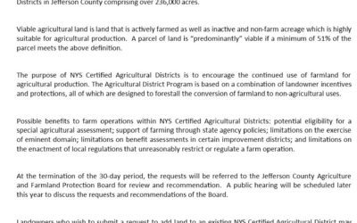 June: Press Release – Ag Districts